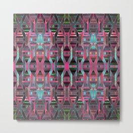 Geometric Wood Pattern G404 Metal Print