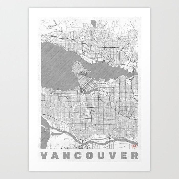Vancouver map line art print by hubertroguski society6 vancouver map line art print gumiabroncs Gallery
