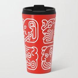 Mayan Glyphs ~ Heads Travel Mug