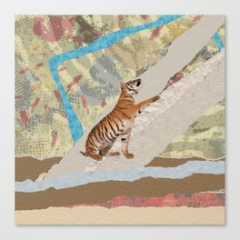 Tiger Cub - Mixed Media Digital art Canvas Print