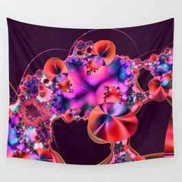 Hibiscus in Red Wall Tapestry