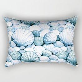 Sea Shells Teal Rectangular Pillow