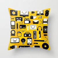 technology Throw Pillows featuring Technology  by adrianperive