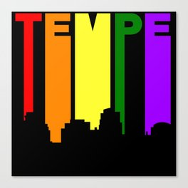 Tempe Arizona Gay Pride Rainbow Skyline Canvas Print