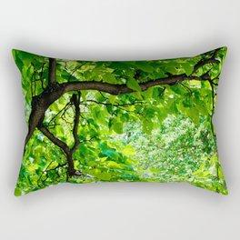 Peek into the Summer Trees Rectangular Pillow