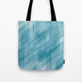The Blue Hash - Geometric Pattern Tote Bag