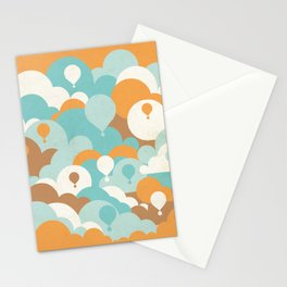 Balloons among clouds Stationery Cards