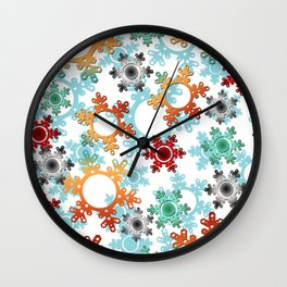 New year decor , new year, Christmas , snow , winter Wall Clock