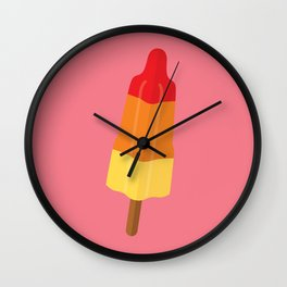 Popsicle on pink Wall Clock