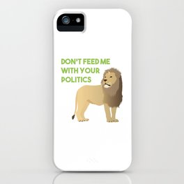 Apolitical Lion iPhone Case