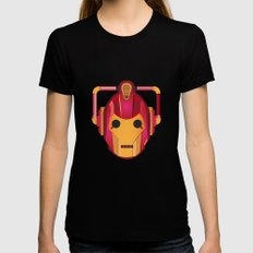 cyber iron man Black Womens Fitted Tee LARGE