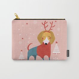 Merry Christmas Dog Card 3 Carry-All Pouch