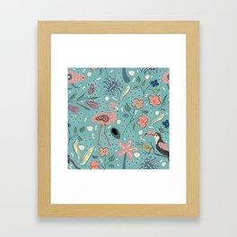 Cute Birds Framed Art Print