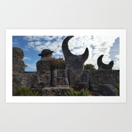 Coral Castle moon and planet Art Print