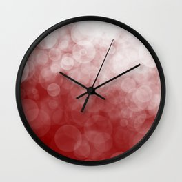 Cranberry Spotted Wall Clock