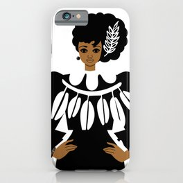 Lady in Black iPhone Case