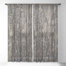 Bark VI Sheer Curtain