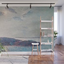 Classical Masterpiece 'New England Coast' by Frederick Childe Hassam Wall Mural
