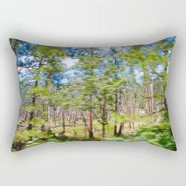 Tree Blur Rectangular Pillow