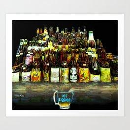 107 Liquor Art Print
