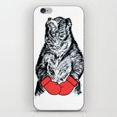 Boxing Bear iPhone & iPod Skin