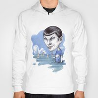 spock Hoodies featuring spock by ElenaTerrin