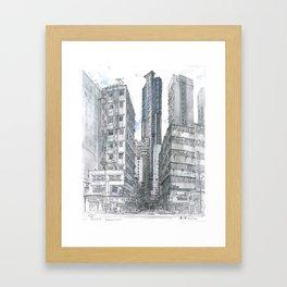 Hong Kong. Burrows street Framed Art Print