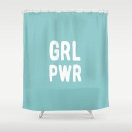 GRL PWR (Blue) Shower Curtain