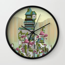 Paradise Waterfalls Wall Clock