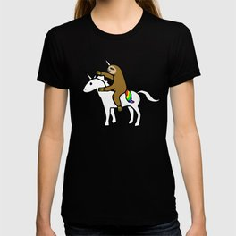 Slothicorn Riding Unicorn T-shirt