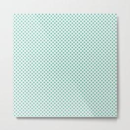 Spearmint Polka Dots Metal Print