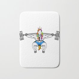 Motivation Tee For You Great Unicorn Muscular Tee T-shirt Design Lifting Heavy Weights Diamond Bath Mat