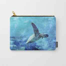 Sea Turtle Into The Deep Blue Carry-All Pouch