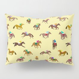 To The Horse Races (Yellow) Pillow Sham