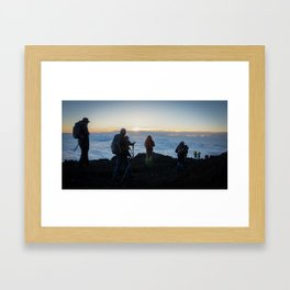 Looking down. Mt. Fuji, Japan Framed Art Print