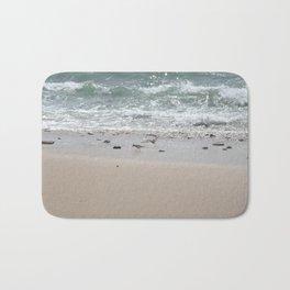 Seashore Sandpipers in tideland Bath Mat