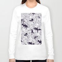 bedding Long Sleeve T-shirts featuring Hide and Seek by nicebleed