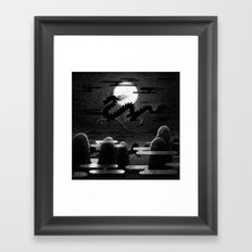 Drawlloween 2014: Dragon Framed Art Print