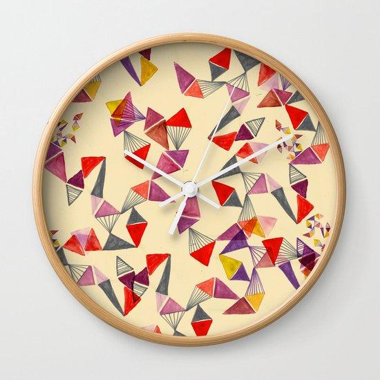 watercolour geometric shapes Wall Clock