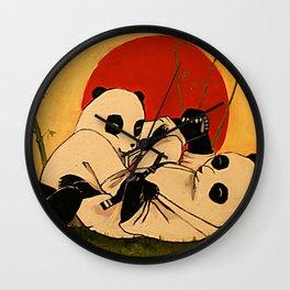 JIU JITSU PANDAS Wall Clock
