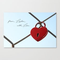 From Lisbon with Love Canvas Print
