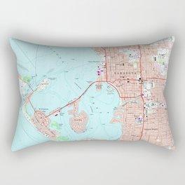 Vintage Map of Sarasota Florida (1973) Rectangular Pillow