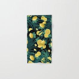 Summer Lemon Twist Jungle Night #1 #tropical #decor #art #society6 Hand & Bath Towel