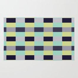 soft color shades minimalist tartan geometric pattern Rug