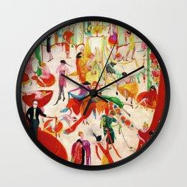 'Spring Sale Soireé at Bendels' Jazz Age New York City Portrait by Florine Stettheimer Wall Clock