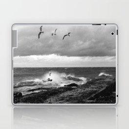 Storm at Five mile Point, Lake Superior Laptop & iPad Skin