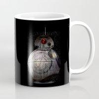 death star Mugs featuring BB8 Death Star by Daniac Design