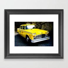 Yellow Cab (1) Framed Art Print