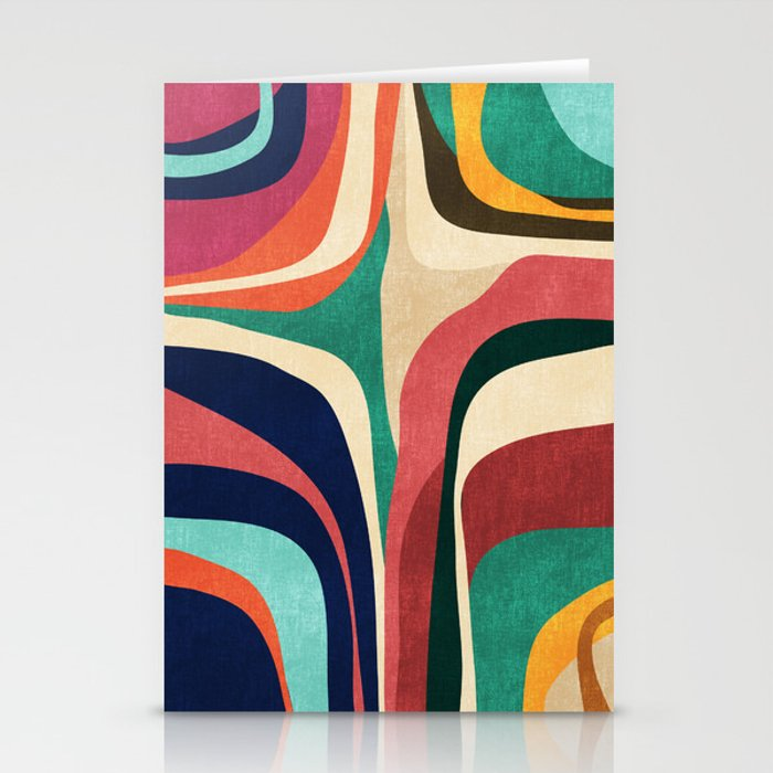 Impossible contour map Stationery Cards