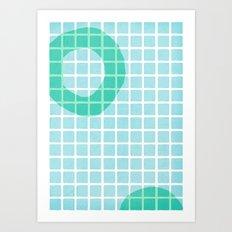 Pool Shadows 1 Art Print